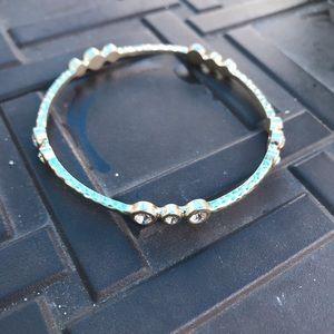 LOFT Silver Detailed Jeweled Bracelet